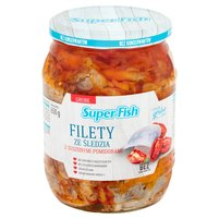 SuperFish Filety ze śledzia z suszonymi pomidorami