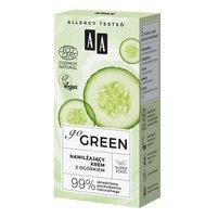 AA Go Green nawilżający krem z ogórkiem NATURAL