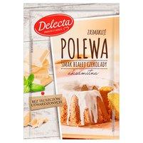 DELECTA Polewa smak białej czekolady gotowa do ciast