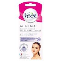 VEET Minima Easy-Gel Plastry z woskiem do twarzy