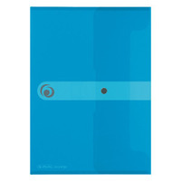 HERLITZ Teczka plastikowa A5 na zatrzask Niebieska transparentna