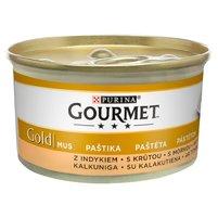 GOURMET Gold Karma dla kotów mus z indykiem