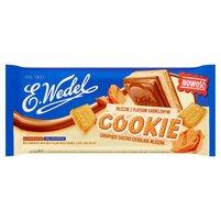 E. WEDEL Cookie Czekolada mleczna z nadzieniem mlecznym z płatkami karmelowymi i herbatnikiem