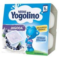 NESTLE Yogolino Deserek mleczno-owocowy jagoda dla niemowląt po 6. m-cu (4 x 100 g)