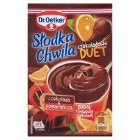 DR. OETKER Słodka Chwila Czekoladowy Duet Budyń z belgijską czekoladą czekolada & pomarańcza
