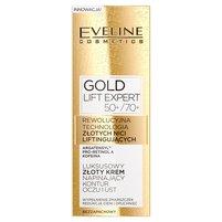 EVELINE Gold Lift Expert Luksusowy złoty krem napinający kontur oczu i ust 50+/70+