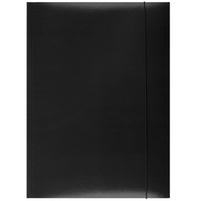 OFFICE PRODUCTS Teczka A4 z gumką lakierowana czarna
