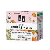 AA Super Fruits&Herbs balsam olejowy w świecy migdał&rozmaryn