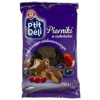 WIODĄCA MARKA P'tit deli Pierniki w czekoladzie z nadzieniem wieloowocowym
