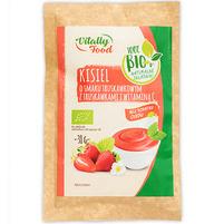 VITALLY FOOD Kisiel o smaku truskawkowym z truskawkami i witaminą C BIO