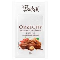 BAKAL Sweet Orzechy laskowe prażone z chili w czekoladzie mlecznej