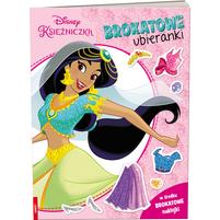 AMEET Disney Księżniczki. Brokatowe ubieranki (okładka miękka)