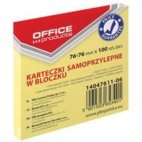 OFFICE PRODUCTS Karteczki samoprzylepne w bloczku 76x76mm