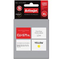 ACTIVEJET ACC-571YNX Tusz do drukarki Canon zastępuje tusz Canon CLI-571Y XL żółty
