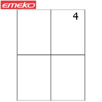EMEKO Etykiety samoprzylepne A4 105x148,5mm