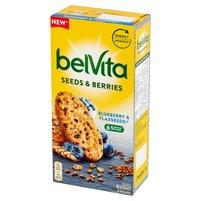 BELVITA Ciastka zbożowe z nasionami lnu i jagodami (6 szt.)