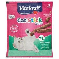 CAT-STICK MINI - przekąska z mięsem z kaczki i królika dla kotów 18g