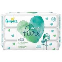 PAMPERS Aqua Pure Chusteczki nawilżane dla niemowląt (3 x 48 szt.)