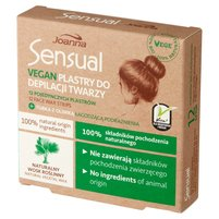 JOANNA Sensual Vegan Plastry do depilacji twarzy + Tubka z oliwką łagodzącą