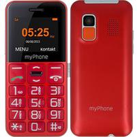 MYPHONE Halo Easy Telefon dla seniora czerwony