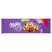 MILKA Pieguski Ciasteczka z kawałkami czekolady mlecznej i rodzynkami