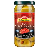 PRIMO GUSTO Melissa Duże oliwki greckie ręcznie nadziewane suszonymi pomidorami