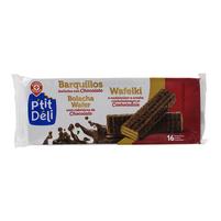 WIODĄCA MARKA Wafelki z nadzieniem o smaku czekoladowym oblane czekoladą