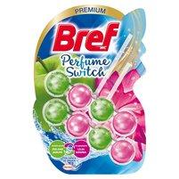BREF WC Perfume Switch Zawieszka myjąco-zapachowa do muszli WC zielone jabłko-lilia wodna (2 x 50g)