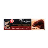 WIODĄCA MARKA Truffine Ciasteczka z nadzieniem kakaowym oblane czekoladą mleczną
