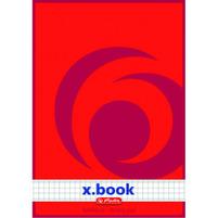 HERLITZ x.book Notatnik szkolny A5 100 kartek w kratkę Czerwony
