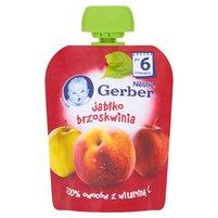 GERBER Deserek Jabłko brzoskwinia po 6. m-cu