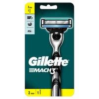 GILLETTE Mach3 Maszynka do golenia dla mężczyzn + 2 ostrza wymienne