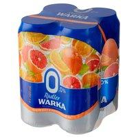 WARKA Radler Piwo bezalkoholowe z lemoniadą o smaku grejpfruta i pomarańczy (4 x 500 ml)