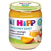 HiPP BIO Owocowy Duet Jabłka i mango z twarożkiem po 6. m-cu