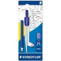 STAEDTLER Cyrkiel szkolny metalowy z adapterem + ołówek