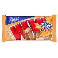 E. WEDEL WW Cztery wafelki przekładane nadzieniem Peanut Butter w mlecznej czekoladzie
