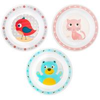 CANPOL BABIES Duży plastikowy talerz Cute Animals