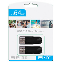 PNY Zestaw 2x pendrive 64GB USB 2.0 Attache 4