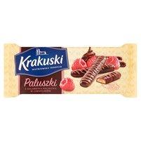 KRAKUSKI Paluszki z galaretką malinową w czekoladzie