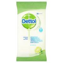 DETTOL Antybakteryjne chusteczki do mycia powierzchni o zapachu limonki z miętą