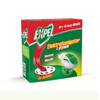 EXPEL Elektrofumigator z płynem Ochrona przed komarami