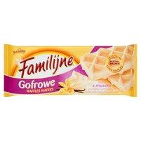 FAMILIJNE Gofrowe wafle z musem o smaku waniliowym