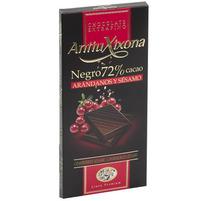 ANTIUXIXONA Czekolada gorzka 72% kakao z żurawiną i sezamem