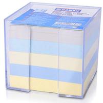 DONAU Kostka z kolorowymi, nieklejonymi karteczkami w pudełku 83x83x75mm