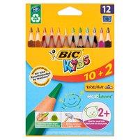BIC KIDS Evolution Kredki o trójkątnym kształcie 10+2 gratis