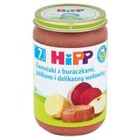 HiPP BIO Ziemniaki z buraczkami jabłkiem i delikatną wołowiną po 7. m-cu