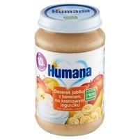 HUMANA 100% Organic Śniadanko jabłko z bananem na twarożku po 10. m-cu