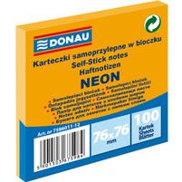 DONAU Neon Karteczki samoprzylepne w bloczku pomarańczowy