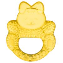 CANPOL BABIES Gryzak wodny dla niemowląt króliczek żółty 0m+