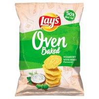LAY'S Oven Baked Pieczone formowane chipsy ziemniaczane o smaku jogurtu z ziołami